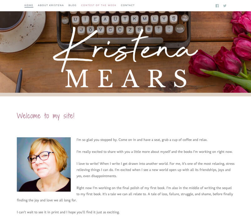 Kristena Mears web design by kikaDESIGN