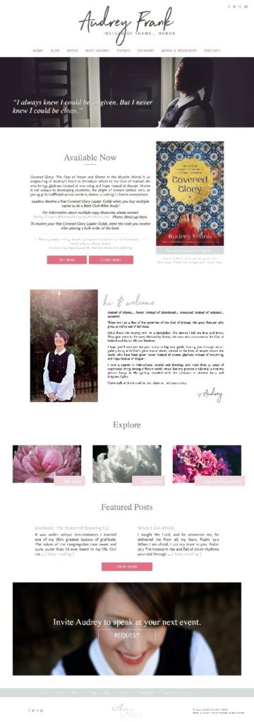 Audrey Frank web design by kikaDESIGN