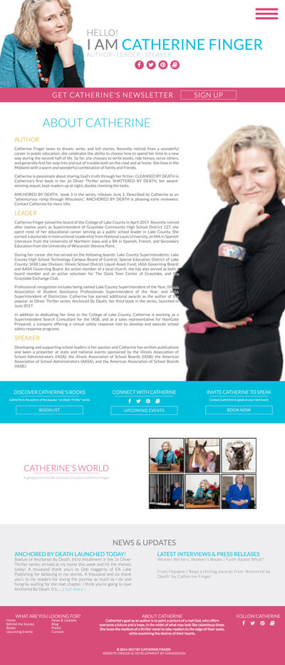 Catherine Finger web design by kikaDESIGN