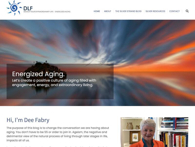 Dee L. Fabry web design by kikaDESIGN