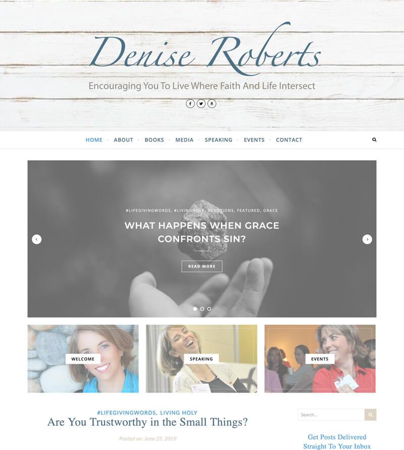 Denise Roberts web design by kikaDESIGN