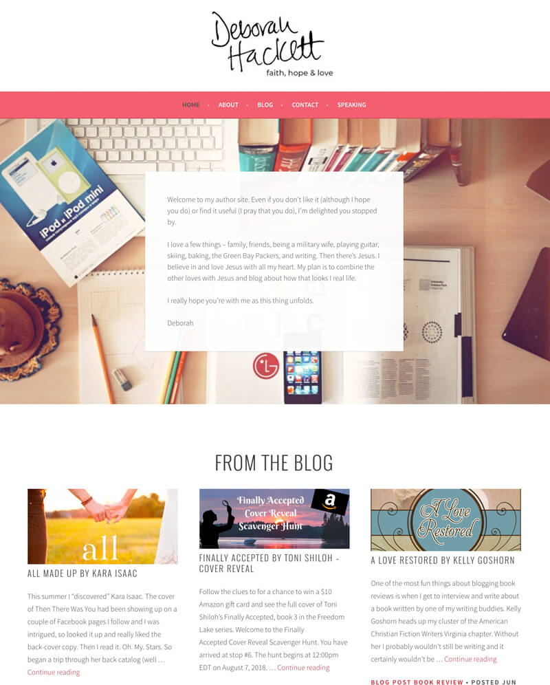 Debb Hackett web design by kikaDESIGN