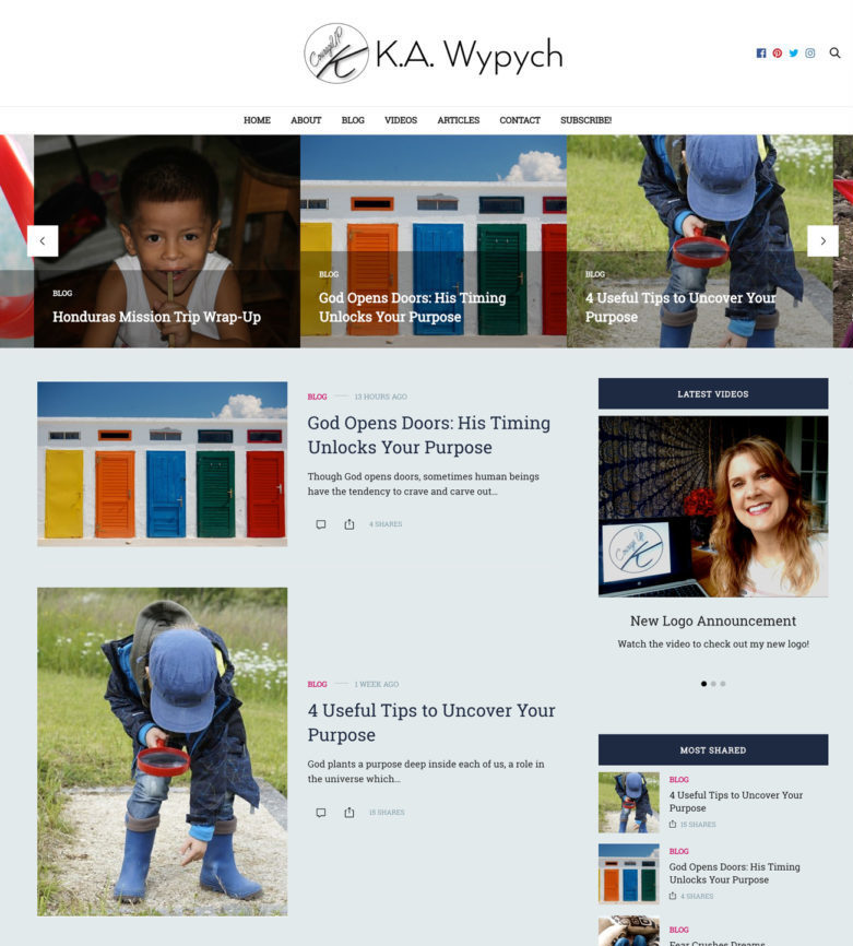 K.A. Wypych web design by kikaDESIGN