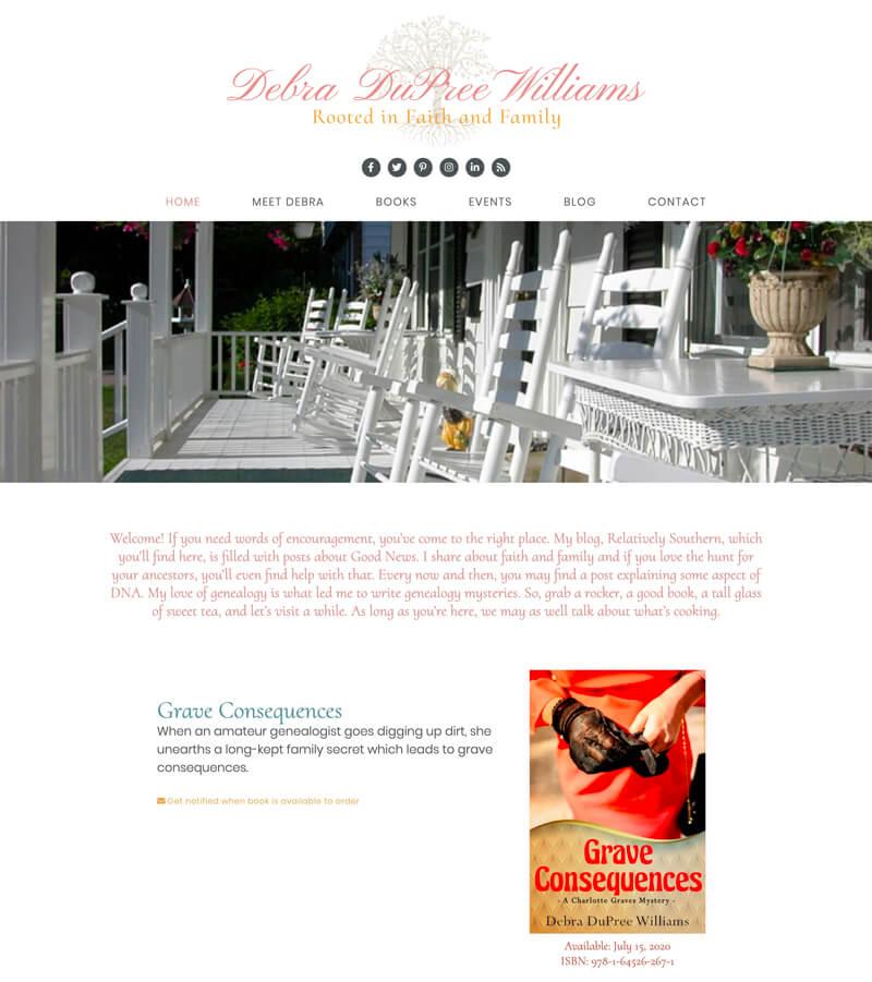 Debra DuPree Williams web design by kikaDESIGN