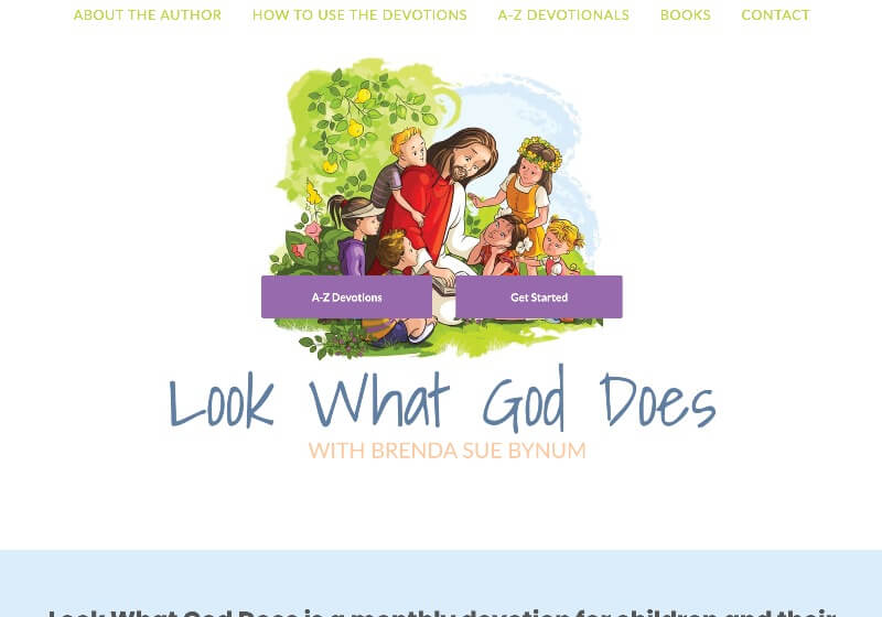 Brenda Sue Bynum web design by kikaDESIGN