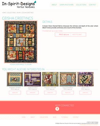 In Spirit Designs web design by kikaDESIGN