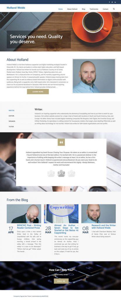 Holland Webb web design by kikaDESIGN