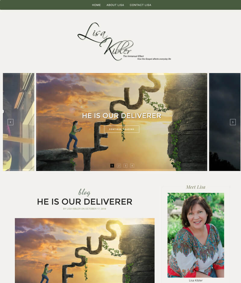 Lisa Kibler web design by kikaDESIGN