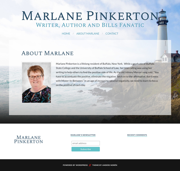 Marlane Pinkerton web design by kikaDESIGN