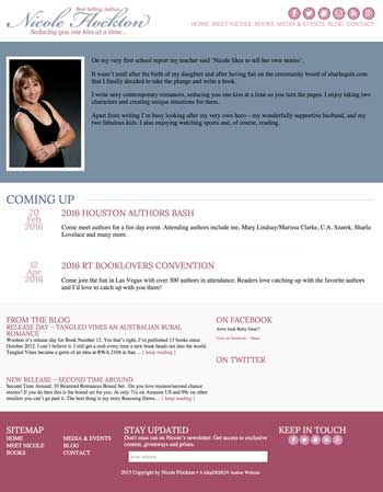 Nicole Flockton web design by kikaDESIGN