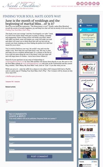 Nicole Flockton web design by kikaDESIGN