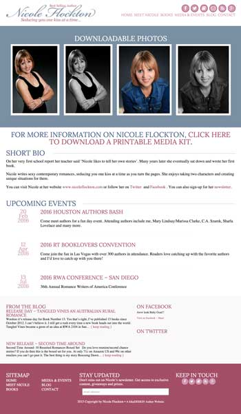 Nicole Flockton: Custom Wordpress Theme by kikaDESIGN