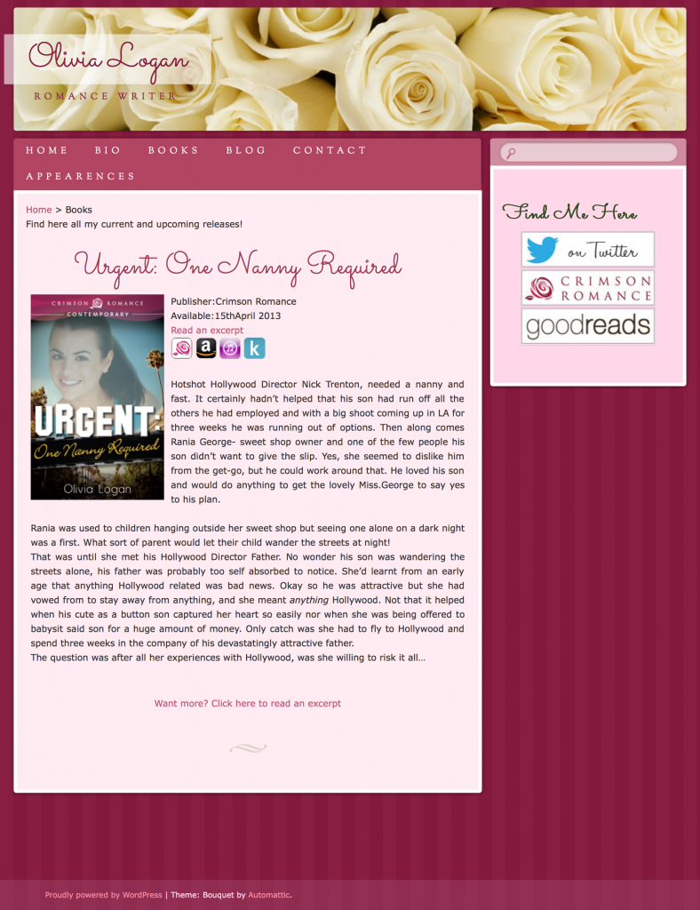 Olivia Logan web design by kikaDESIGN