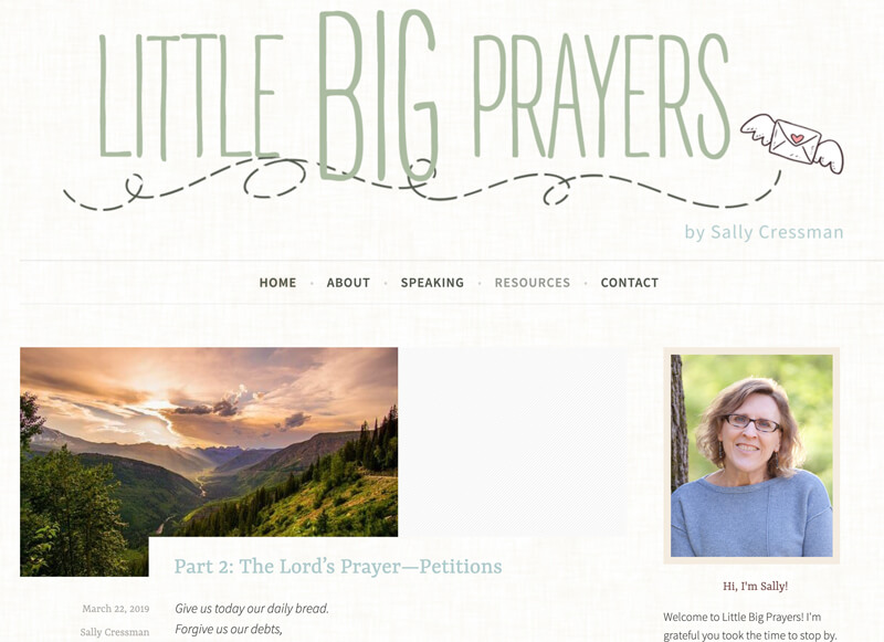 Sally Cressman web design by kikaDESIGN