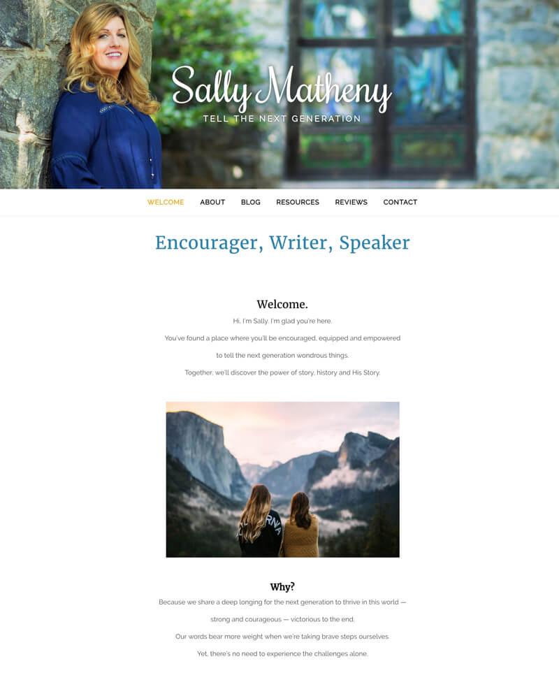 Sally Matheny web design by kikaDESIGN
