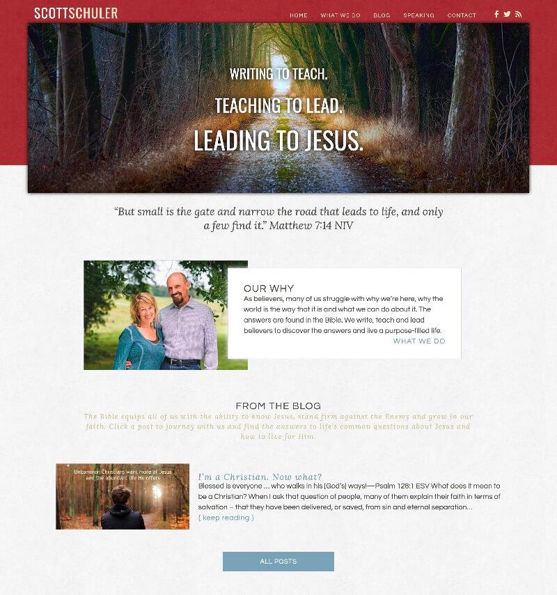 ScottSchuler.org web design by kikaDESIGN