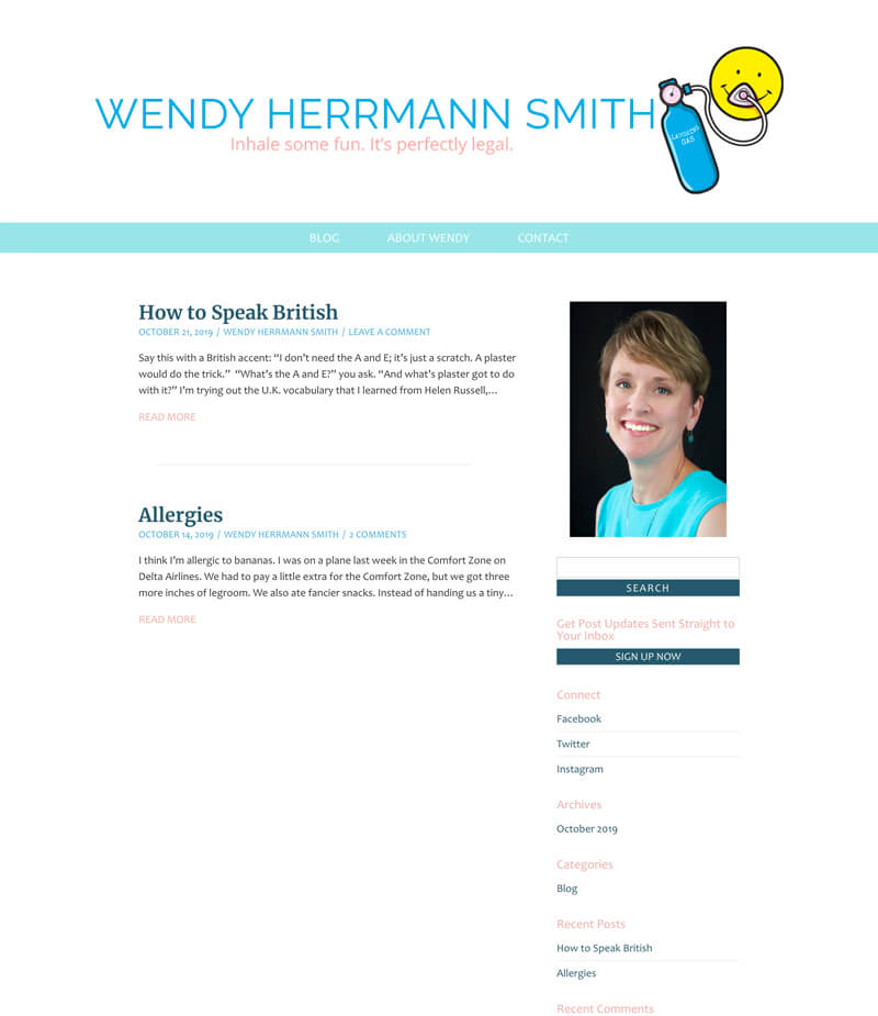 Wendy Herrmann Smith web design by kikaDESIGN