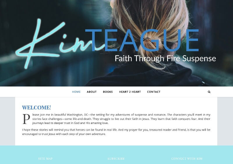 Kim Teague web design by kikaDESIGN
