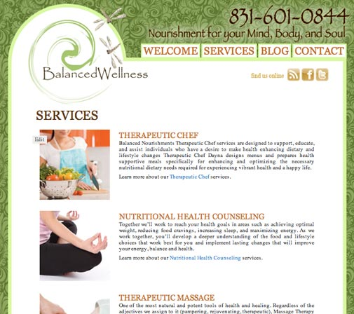 Balanced Wellness web design by kikaDESIGN