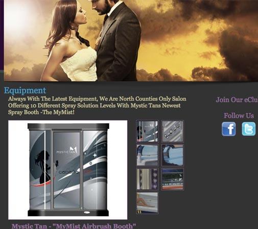 Cabana Tan web design by kikaDESIGN