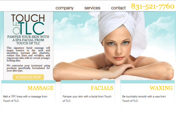 Touch of TLC web design by kikaDESIGN