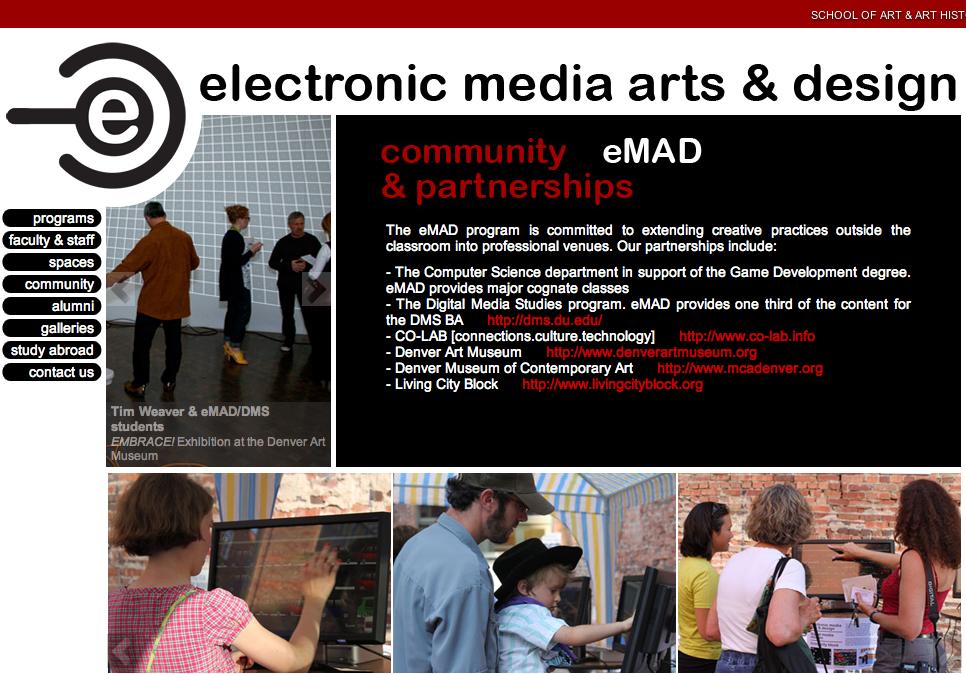 DU   eMAD web design by kikaDESIGN